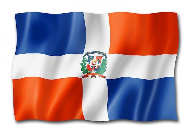 Флаг доминиканской республики на белом