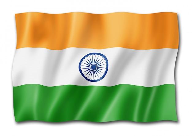 Индийский флаг на белом