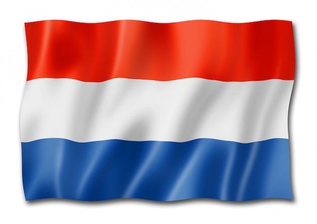 白で隔離オランダの旗