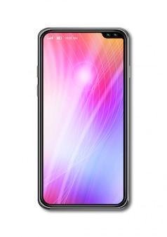 Все-экран красочный смартфон макет, изолированные на белом.