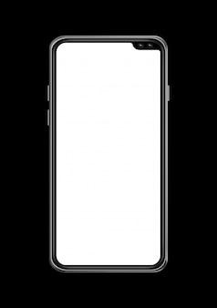 Все-экран пустой смартфон макет, сложенные.