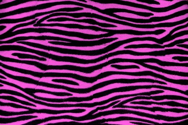 ピンクのゼブラ毛皮背景テクスチャ