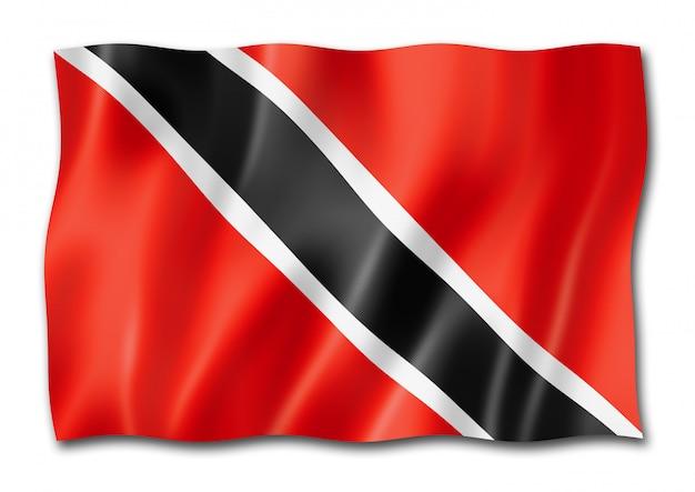 白で隔離トリニダード・トバゴの旗