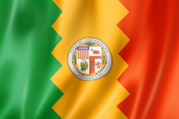Флаг города лос-анджелес, калифорния, сша