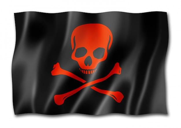 白い背景で隔離の海賊旗