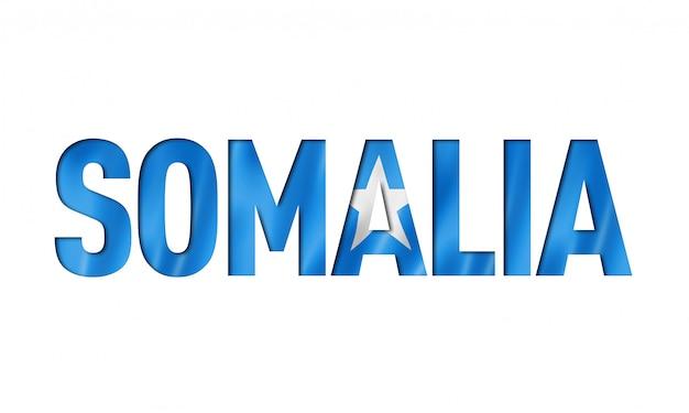 ソマリア国旗テキストフォント