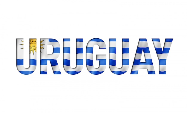 Шрифт уругвайский флаг