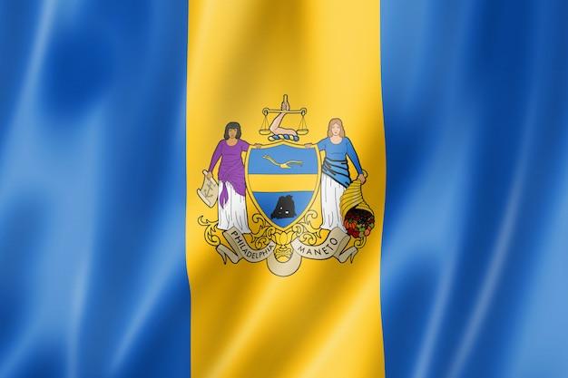 Флаг города филадельфия, штат пенсильвания, сша