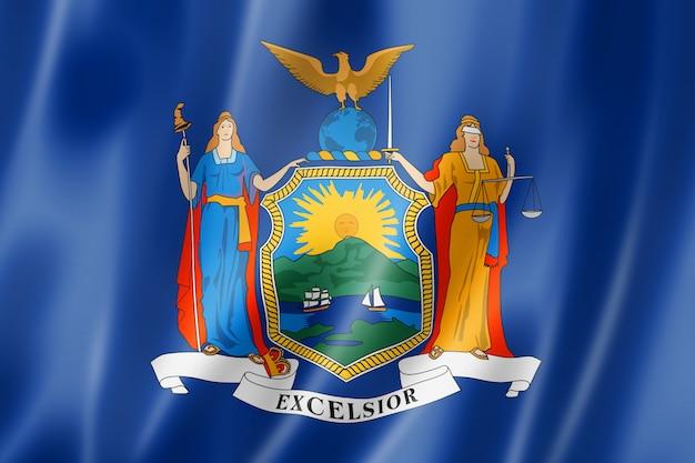 Флаг нью-йорка, сша