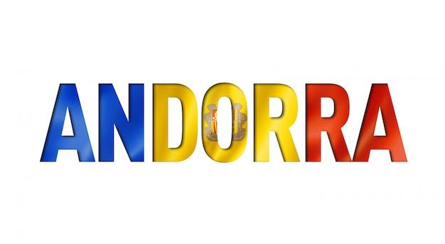 Название флага андорры на белом фоне