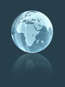 ガラス地球儀。