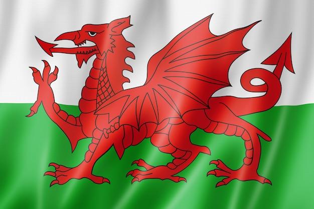 Флаг уэльса, великобритания