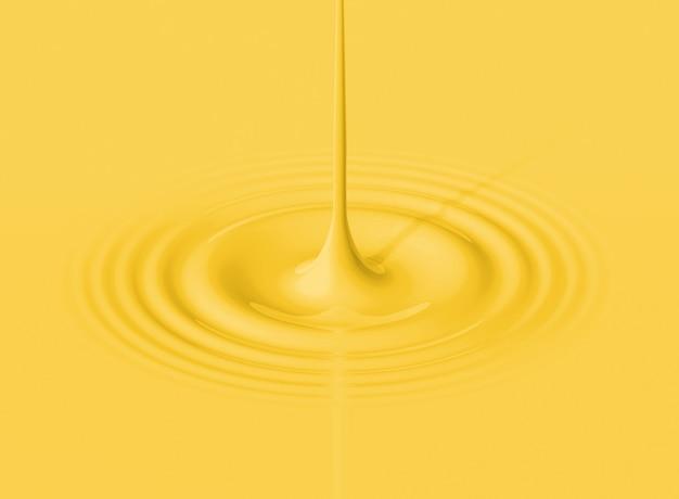 Желтая капля бананового молока и рябь