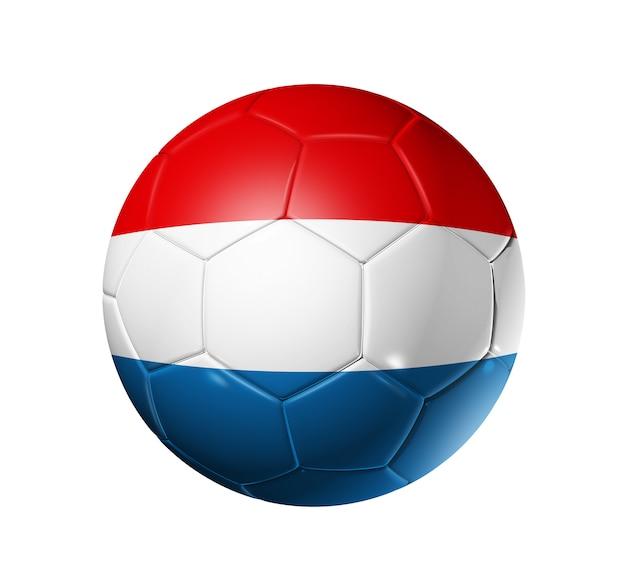 オランダの国旗とサッカーサッカーボール