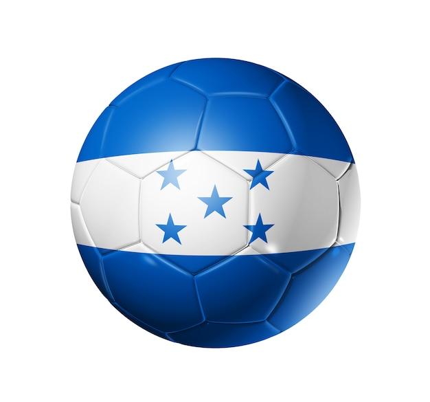 ホンジュラスの国旗とサッカーサッカーボール
