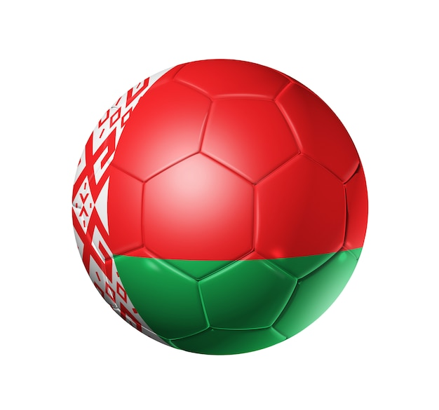 ベラルーシの国旗とサッカーサッカーボール