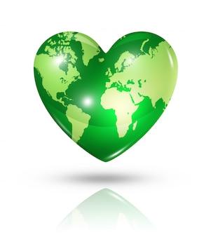 愛の地球のハートのアイコン
