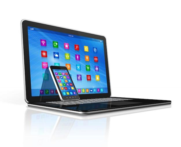Смартфон и ноутбук