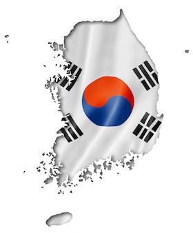 韓国国旗マップ