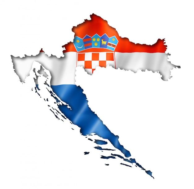 クロアチアの旗マップ