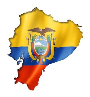 エクアドルの旗の地図