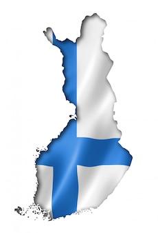 フィンランド国旗地図