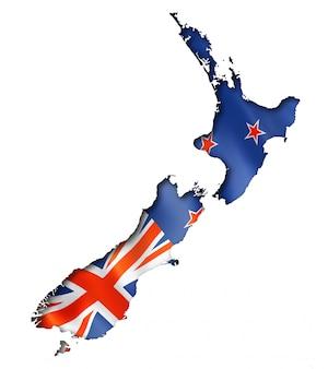 ニュージーランドの旗の地図