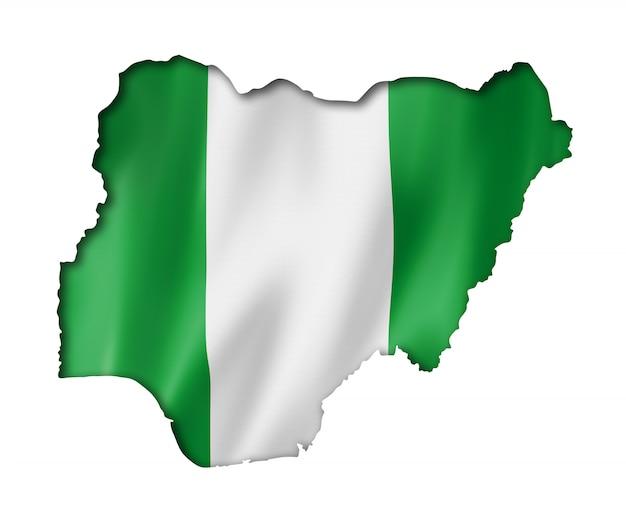 ナイジェリアの旗の地図
