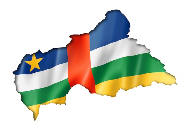 中央アフリカ共和国の旗の地図