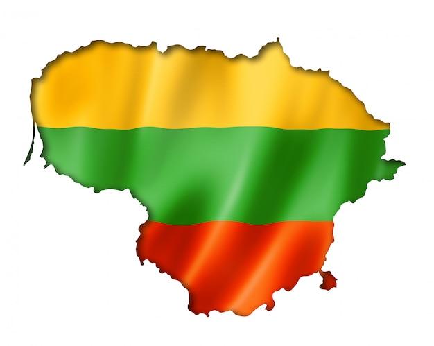 リトアニアの旗の地図