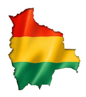 ボリビアの国旗地図