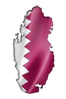 カタールの国旗地図