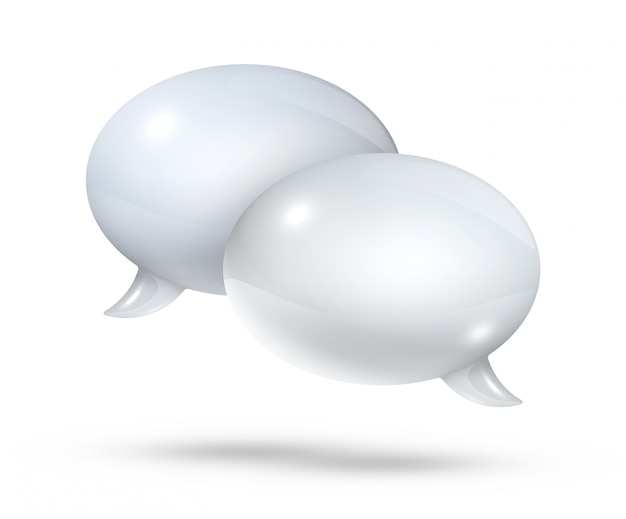 Белые речевые пузыри
