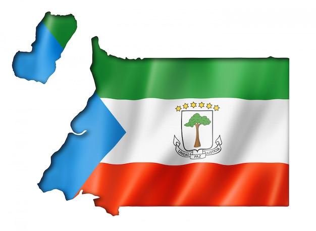 赤道ギニア国旗地図