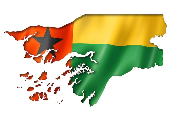 ギニアビサウの国旗地図