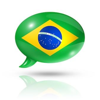 ブラジル国旗吹き出し
