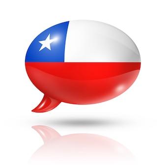 チリ国旗吹き出し