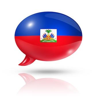 Гаитянский флаг речевой пузырь