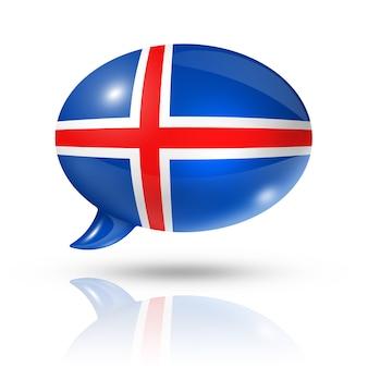 アイスランドの旗の吹き出し