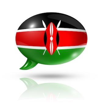 Кенийский флаг речевой пузырь