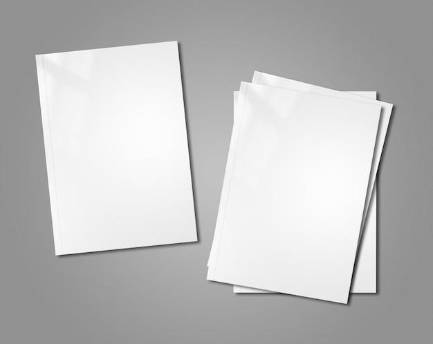 白い小冊子のモックアップ
