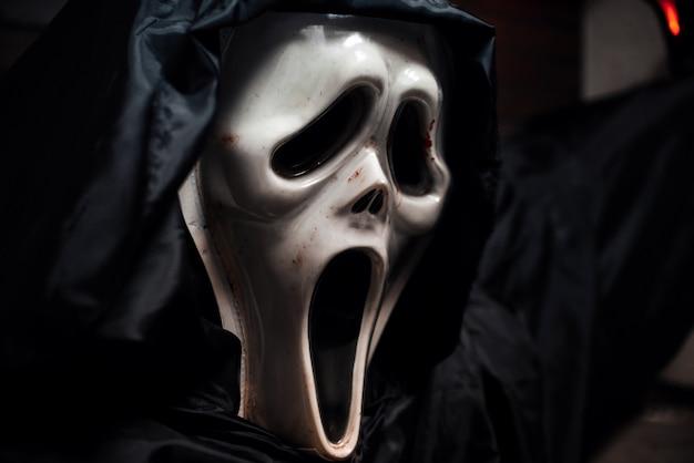 秋のハロウィーンの恐ろしい怖いマスク