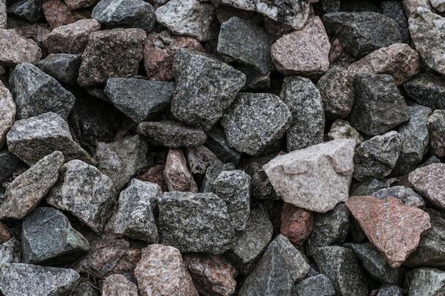 自然の砕石の質感のクローズアップ