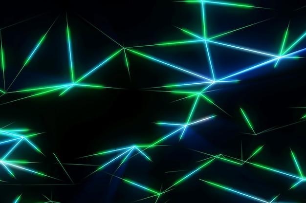 抽象的なネオン線の三角形の未来的なモダンな背景