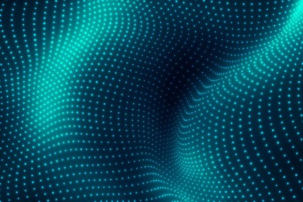 抽象的な青い波。モダンな背景