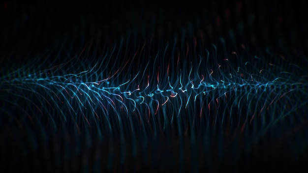 技術抽象的な青と赤の背景。