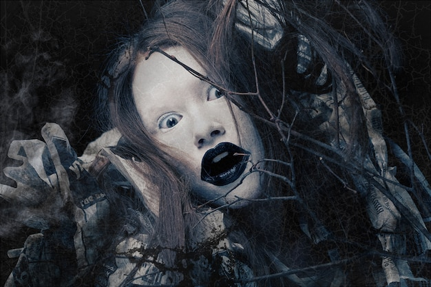 Творческий облик, темная сторона. костюм на хэллоуин