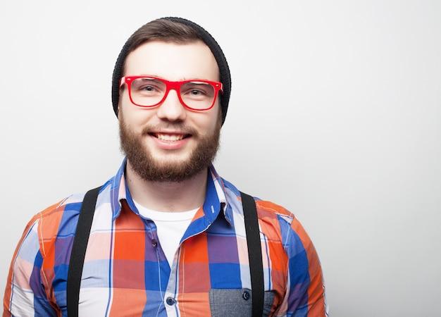 Молодой бородатый битник
