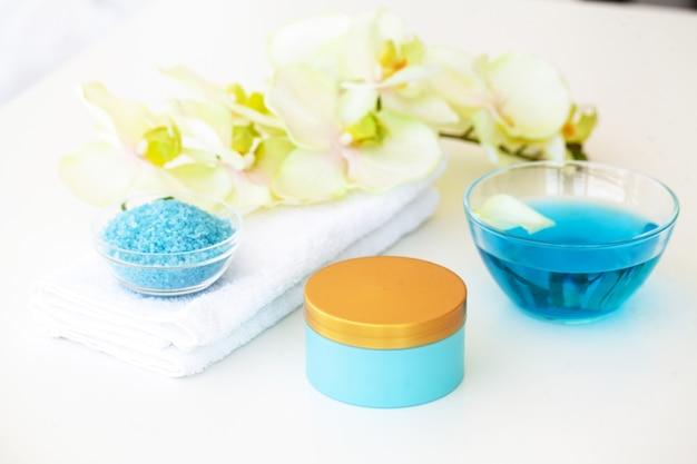 Спа. голубая соль для ванн