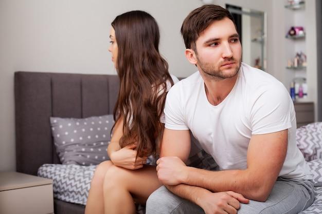 不幸な夫婦と性的問題の概念